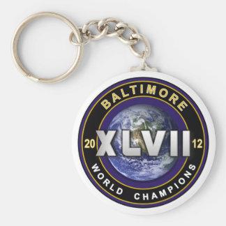 Baltimore XLVII World Champions Football Shirt Key Chains