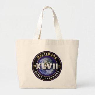 Baltimore XLVII World Champions Football Tote Jumbo Tote Bag