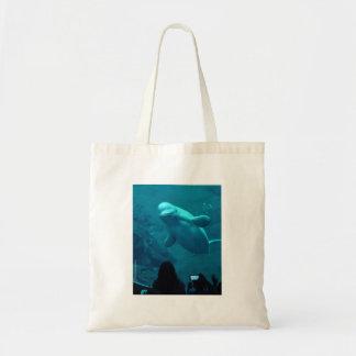 Baluga Whale Tote Bags