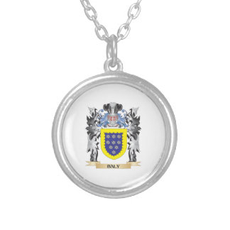 Baly Coat of Arms - Family Crest Round Pendant Necklace