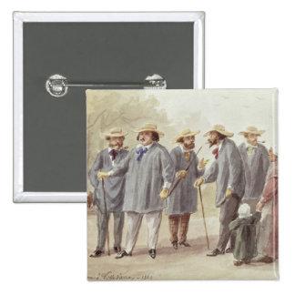 Balzac and Friends 15 Cm Square Badge