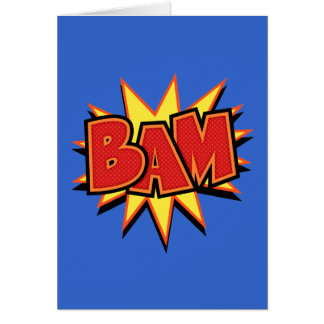Bam-3 Greeting Cards