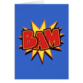 Bam-3 Greeting Card