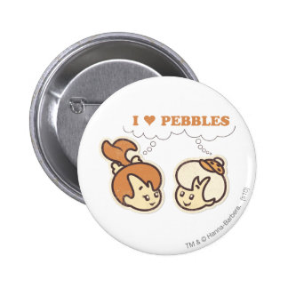 Bam Bam loves PEBBLES™ 6 Cm Round Badge