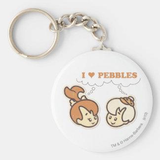 Bam Bam loves PEBBLES™ Basic Round Button Key Ring