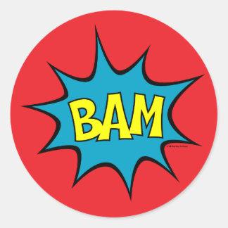 Bam! Classic Round Sticker