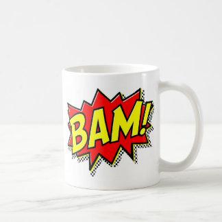 BAM COMICBOOK SOUNDS ACTIONS LOUD COMICS CARTOONS BASIC WHITE MUG