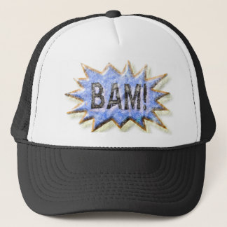 BAM! Distressed look Emeril Apron Trucker Hat