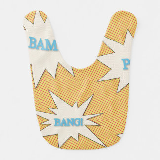 Bam! Pow! Bang! Comic Style Baby Bib