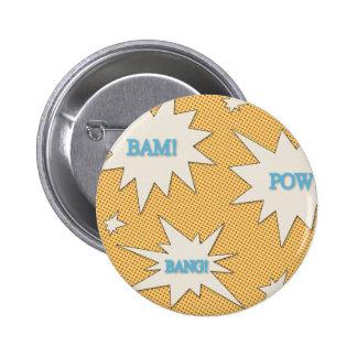 Bam Pow Bang Comic Style Button