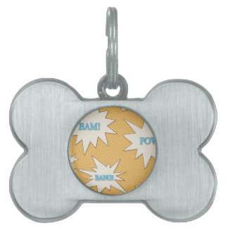 Bam! Pow! Bang! Comic Style Pet Name Tag