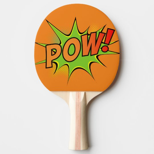 Bam! Pow! Vintage Comic Book Graphics Ping Pong Paddle