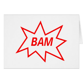 Bam Red Greeting Card
