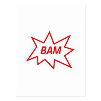 Bam Red Postcard