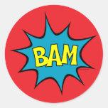 Bam! Round Sticker
