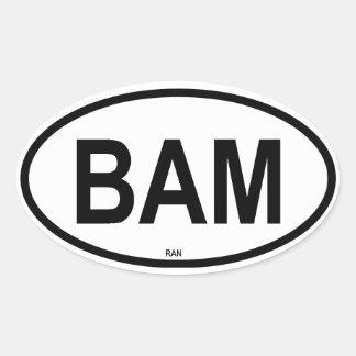 BAM OVAL STICKER