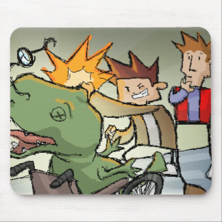 BAM Totally punched a dino Mouse Pads