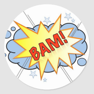 BAM! Vintage Comic Sticker