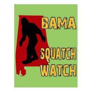 Bama Squatch Watch Postcard