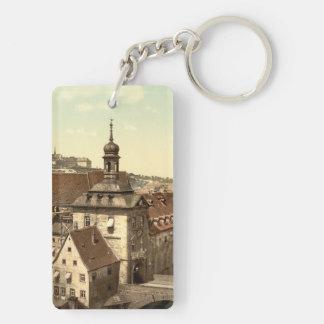 Bamberg Court House, Bavaria, Germany Double-Sided Rectangular Acrylic Key Ring