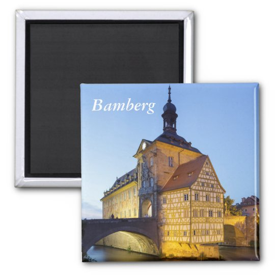 Bamberg evening square magnet
