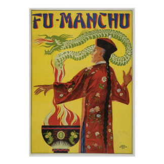 Bamberg ~ Fu Manchu  Magician ~ Vintage Magic Act Poster