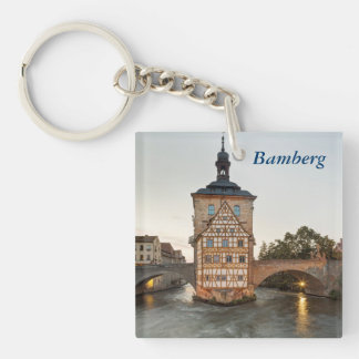 Bamberg Old Town Hall and Obere Bridge Key Ring
