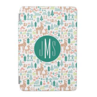Bambi and Woodland Friends Pattern | Monogram iPad Mini Cover