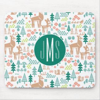 Bambi and Woodland Friends Pattern | Monogram Mouse Mat