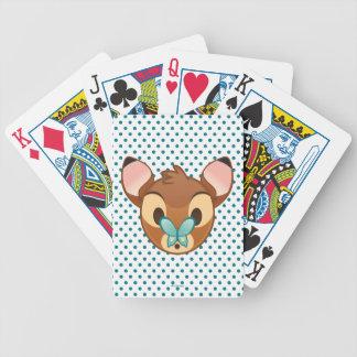 Bambi Emoji Bicycle Playing Cards