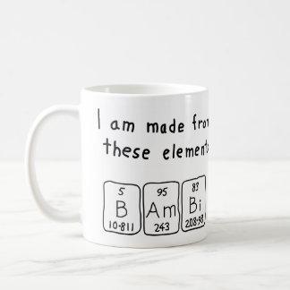 Bambi periodic table name mug