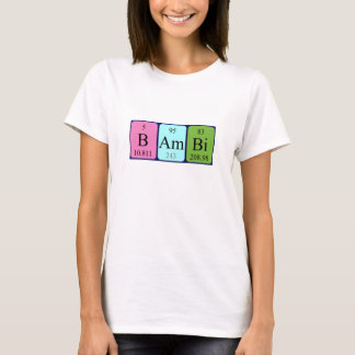 Bambi periodic table name shirt