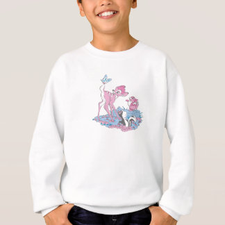 Bambi, Thumper, and Flower with Butterfly Sweatshirt