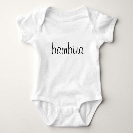 bambina baby bodysuit