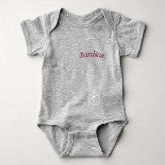 Bambina / 'Baby Girl' Mammaprada Bodysuit, Grey Baby Bodysuit