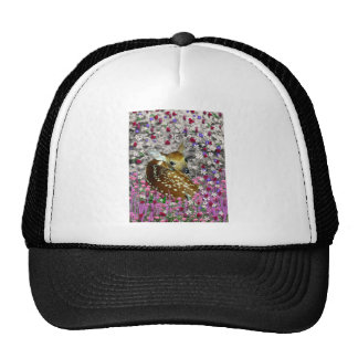 Bambina the Fawn in Flowers II Hat