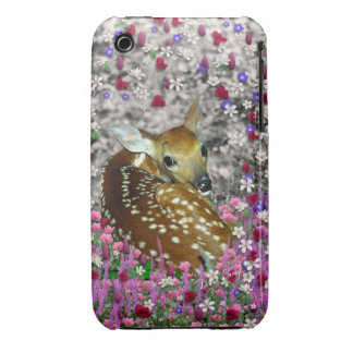 Bambina the Fawn in Flowers II iPhone 3 Case-Mate Cases