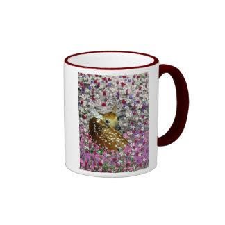 Bambina the Fawn in Flowers II Coffee Mug