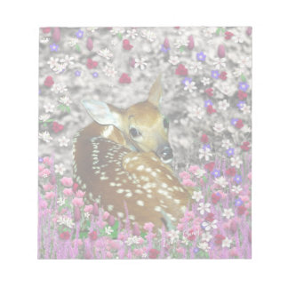 Bambina the Fawn in Flowers II Memo Notepads