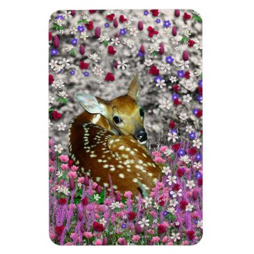 Bambina the Fawn in Flowers II Magnet
