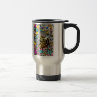 Bambina the White-Tailed Fawn in Butterflies Travel Mug