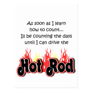 Bambino Babble Hot Rod Count Postcard