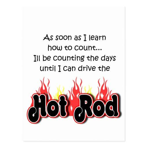 Bambino Babble Hot Rod Count Postcards