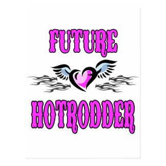 Bambino Babble Hot Rod Future Postcard