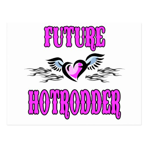 Bambino Babble Hot Rod Future Post Cards
