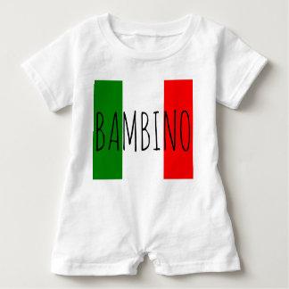 Bambino Baby Boy Italian Flag Last Name Romper Baby Bodysuit
