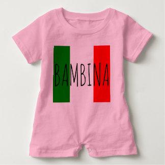 Bambino Baby Girl Italian Flag Last Name Romper Baby Bodysuit