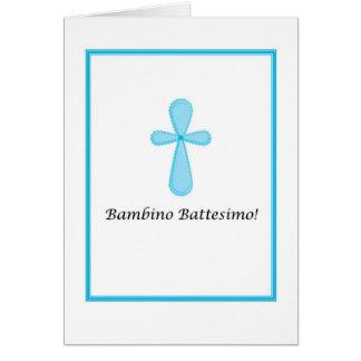 Bambino Battesimo - Baby Baptism in Italian Card
