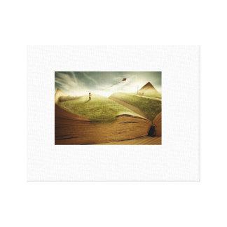 Bambino-con-aquilone Canvas Print