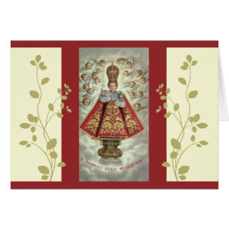 Bambino Gesu Infant of Prague Card